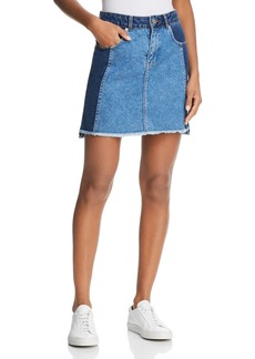 FRENCH CONNECTION Laos Denim skirt in Two-Tone Blue