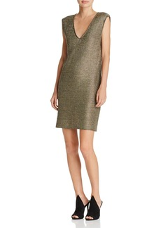FRENCH CONNECTION Leah Metallic Jersey Dress