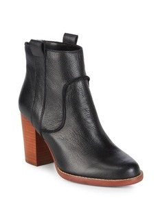 French Connection Leather Booties