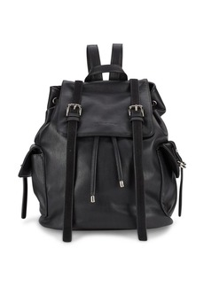 French Connection Leather Crossbody Backpack