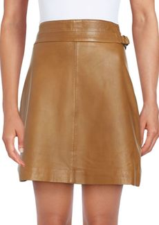 Leather Regular-Fit Skirt