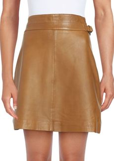 French Connection Leather Regular-Fit Skirt