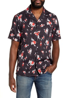 French Connection Leda Floral Short Sleeve Button-Up Camp Shirt