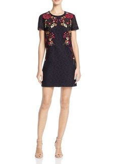 FRENCH CONNECTION Legere Embroidered Lace Dress