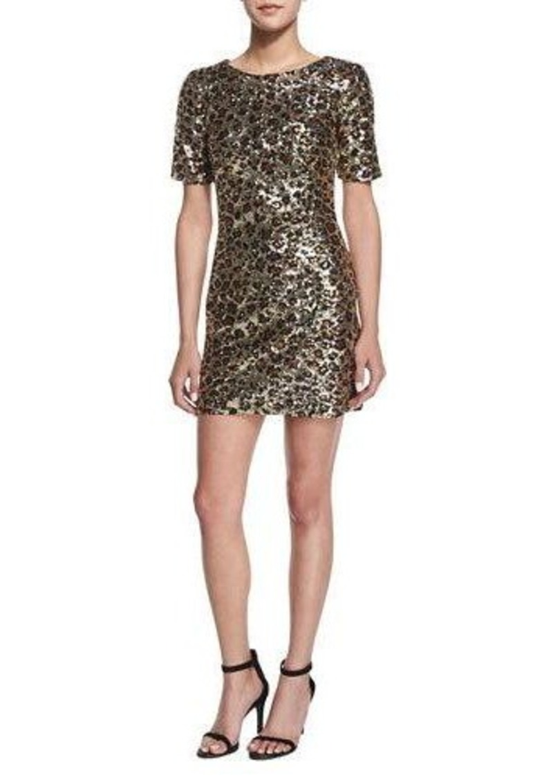 French Connection Leo Lux Embellished Mini Dress