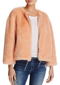 FRENCH CONNECTION Leonie Faux-Fur Drawstring Jacket