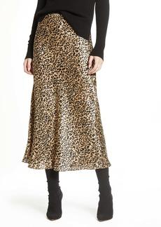 French Connection Leopard Midi Slip Skirt