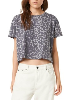 French Connection Leopard-Print Boxy Crop Top