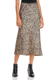 FRENCH CONNECTION Leopard-Print Midi Skirt