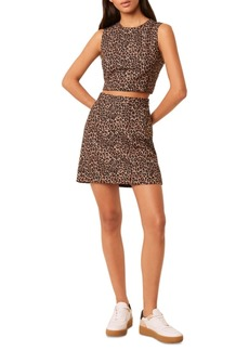 French Connection Leopard-Print Mini Skirt