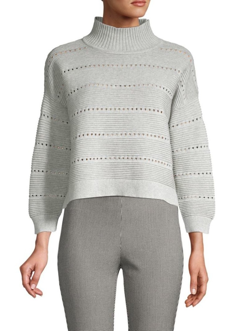 French Connection Liliya Cotton Cropped Sweater