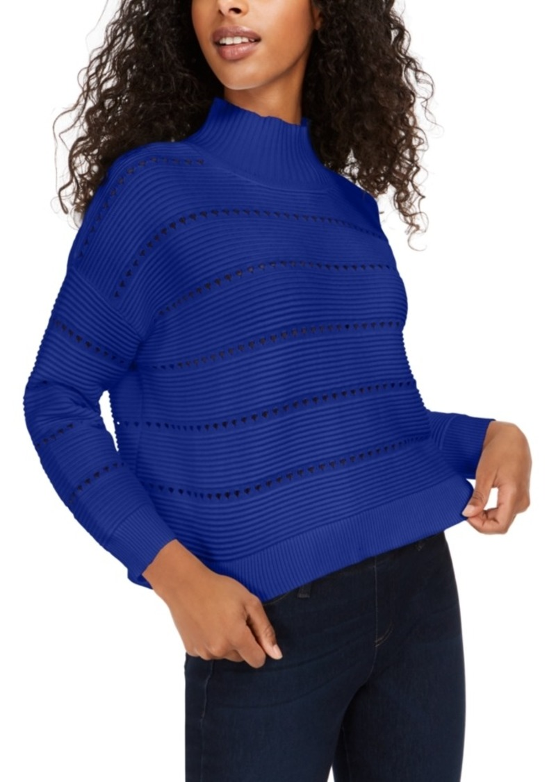 French Connection Liliya Cotton Mock-Neck Sweater
