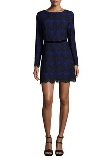 French Connection Linea Long-Sleeve Lace Dress