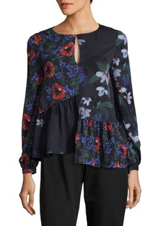 French Connection Lisette Crepe Blouse