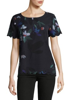 French Connection Lisette Scalloped Blouse
