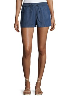 French Connection Little Venice Chambray Pull-On Shorts