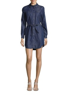 French Connection Long-Sleeve Denim Shirtdress