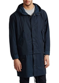 French Connection Long Sleeve Hooded Coat