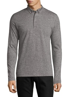 French Connection Long-Sleeve Jersey Polo