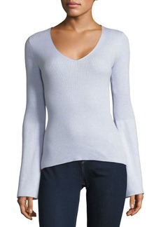 French Connection Long-Sleeve Ribbed Top