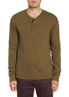 French Connection Long Sleeve Slub Henley