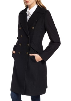 French Connection Long Wool Blend Military Coat