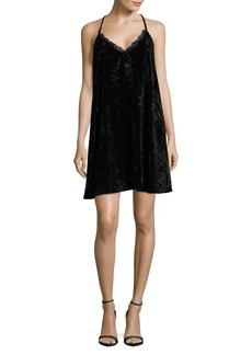 French Connection Lorne Velvet Shift Dress