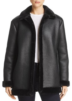 FRENCH CONNECTION Louie Faux-Leather Jacket