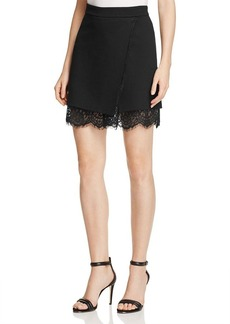 FRENCH CONNECTION Lula Lace-Trimmed Stretch Skirt