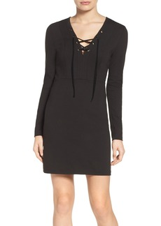 French Connection Lula Lace-Up Dress