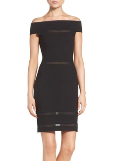 French Connection 'Lula' Mesh Inset Body-Con Dress