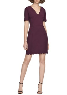 French Connection Lula Scallop Detail Minidress