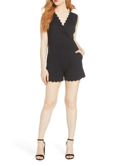 French Connection Lula Scallop Knit Romper