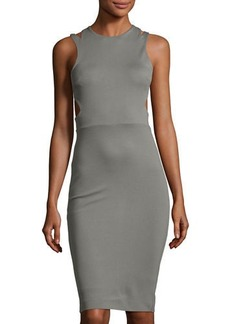 French Connection Lula Stretch Sheath Dress with Cutouts
