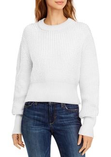 French Connection Luna Mozart Cotton Waffle-Knit Sweater