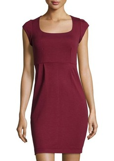 French Connection Manhattan Cap-Sleeve Jersey Dress