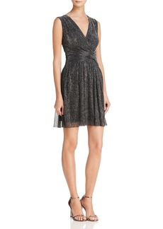 FRENCH CONNECTION Marcelle Sparkling Metallic Dress