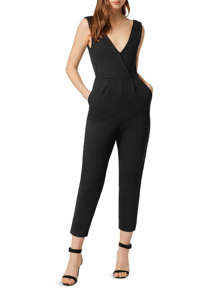 FRENCH CONNECTION Marie Cropped Tapered V-Neck Jumpsuit