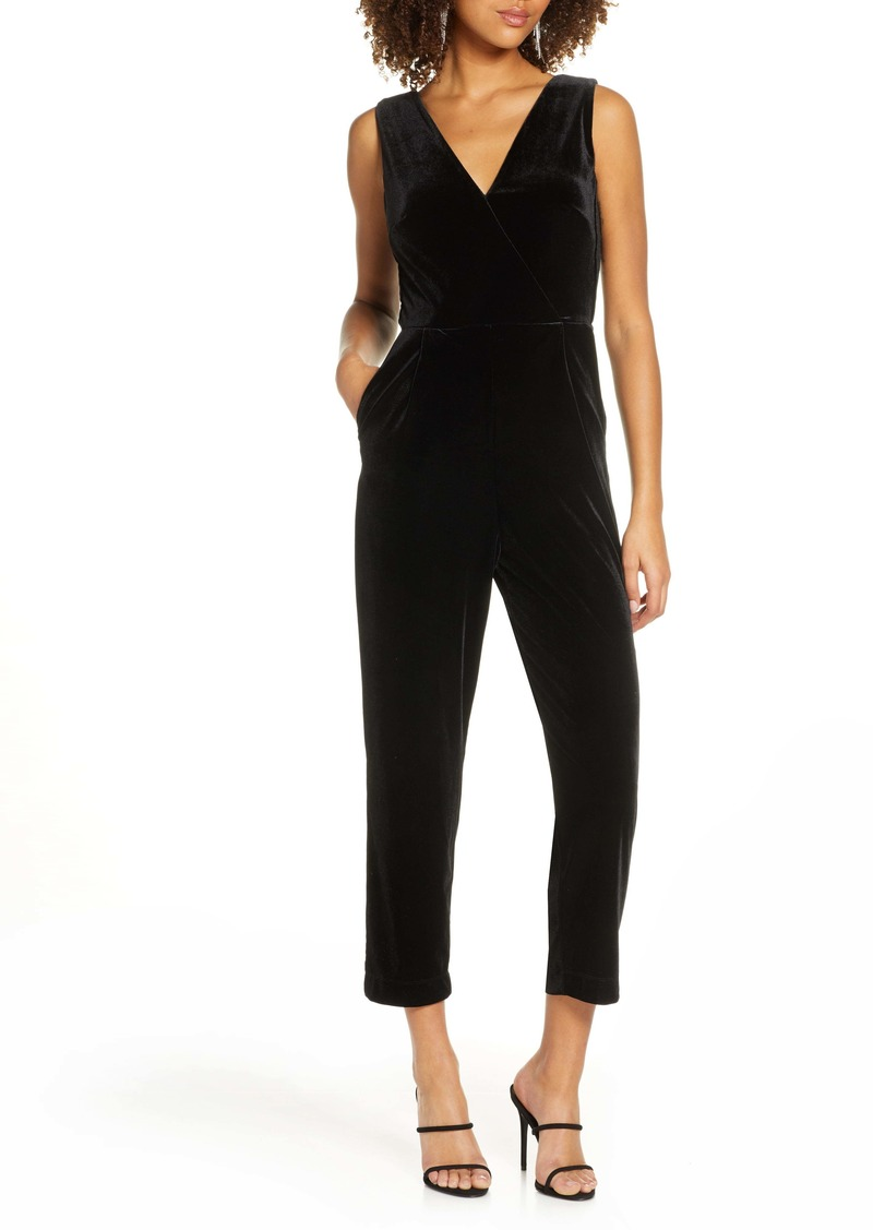 French Connection Marie Sleeveless Velvet Jumpsuit