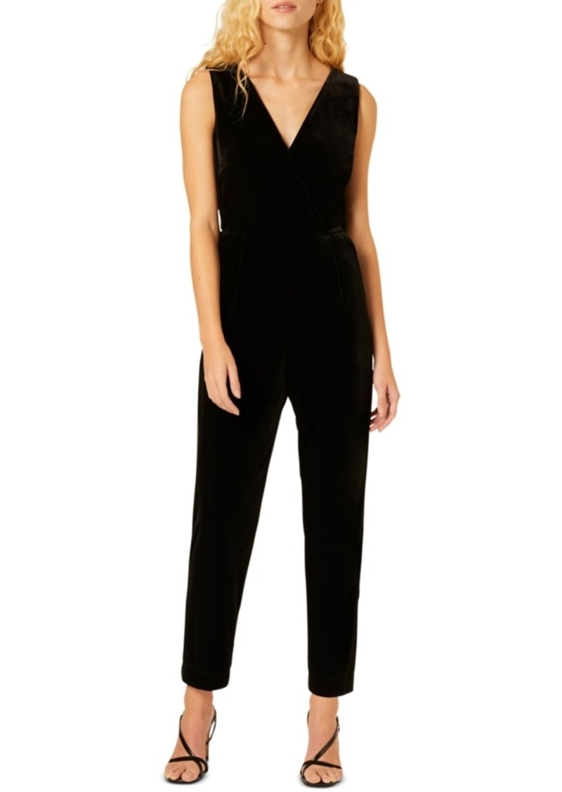 French Connection Marie Velvet Jumpsuit