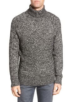French Connection Marled Cable Knit Turtleneck Sweater