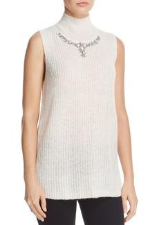 FRENCH CONNECTION Mathilde Embellished Split-Back Sweater Vest