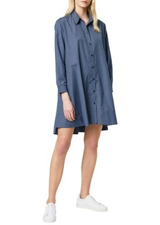French Connection Mattia Check Long Sleeve Shirtdress