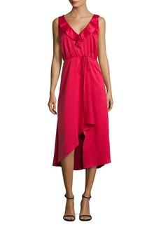 French Connection Maudie Drape Midi Dress