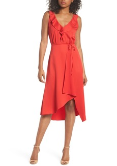 French Connection Maudie Ruffle Midi Dress