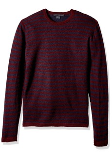 French Connection Men's 2/48's Double Stripe Sweater  M