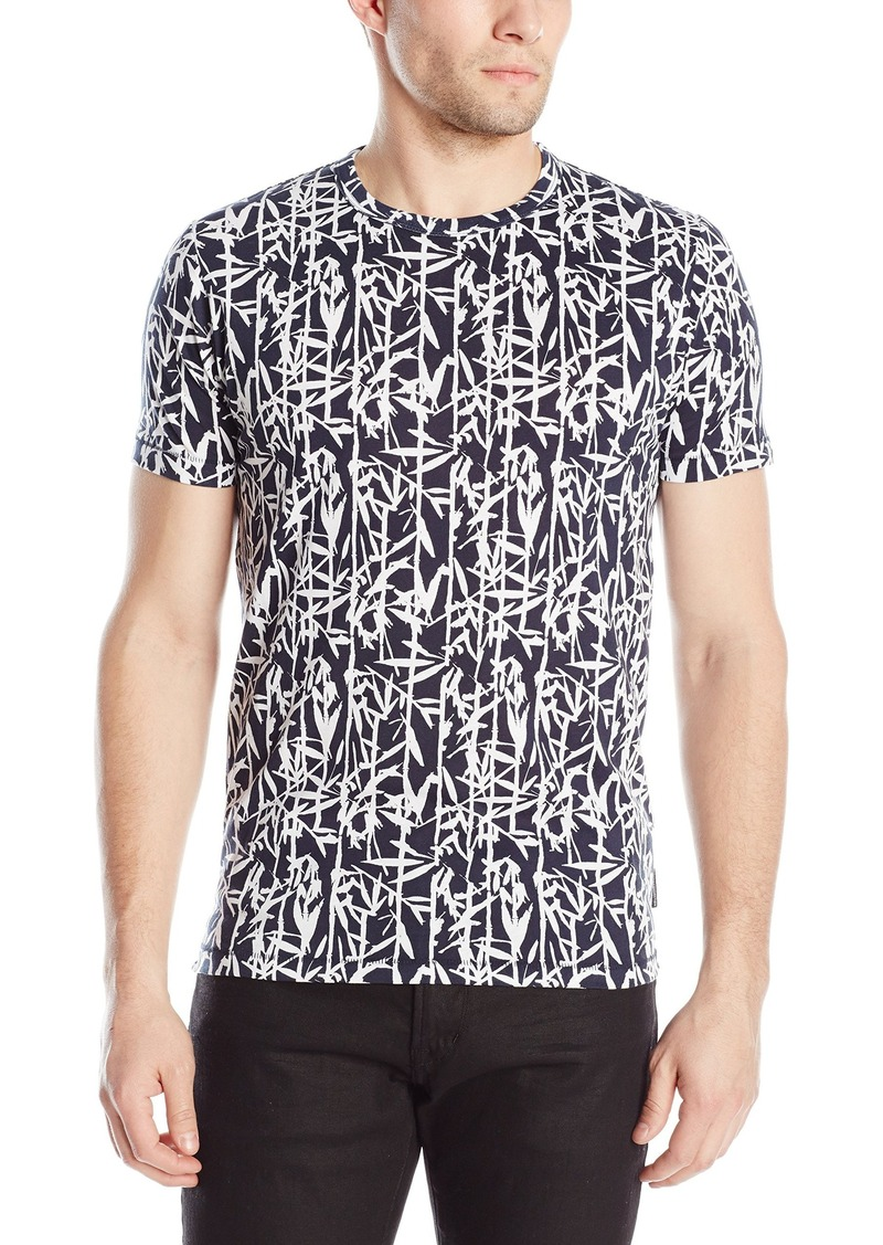 French Connection Men's Bamboo Print Short Sleeve T-Shirt