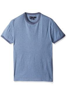 French Connection Men's Ben's Ringer Solid Slim Fit Crewneck T-Shirt  L