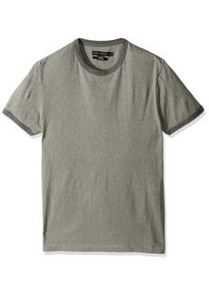 French Connection Men's Ben's Ringer Solid Slim Fit Crewneck T-Shirt mid Grey Melange M