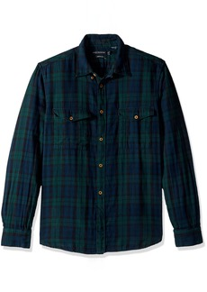 French Connection Men's Blackwatch Double Pocket Button Down Shirt  L